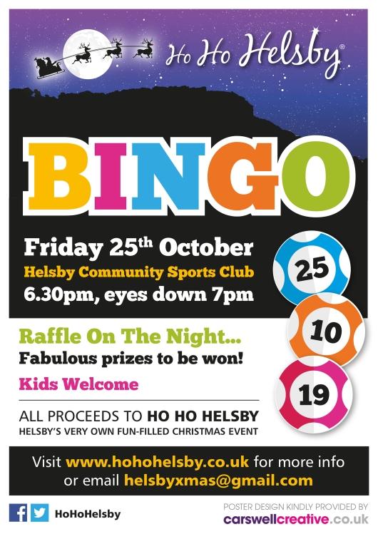 Ho Ho Helsby Bingo Oct 2019